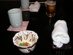 Présentation au repas japonais