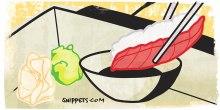 Comment manger sushi