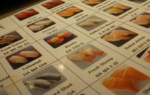 Carte à sushi