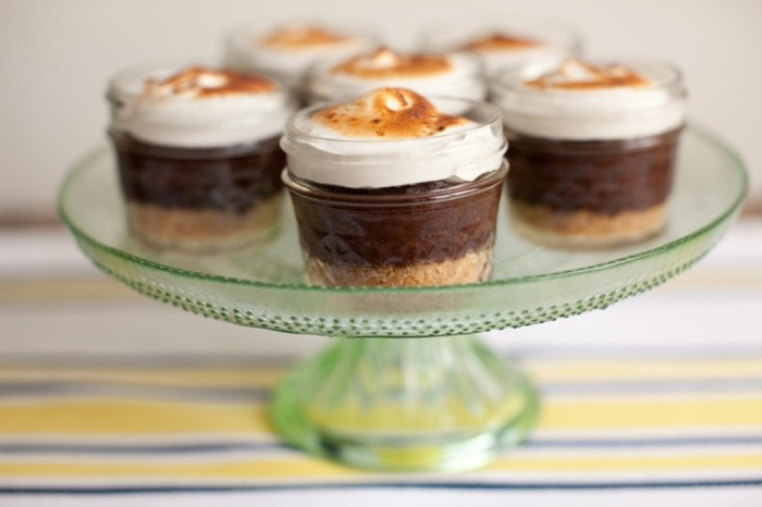 Mason jar s'mores cupcakes