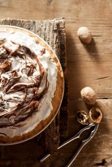 Tarte meringue nutella