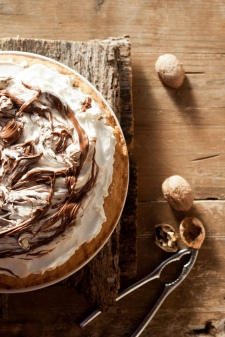 Tarte meringue nutella