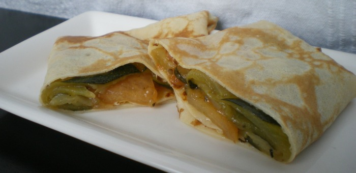 Crêpe courgette Tomate emmental
